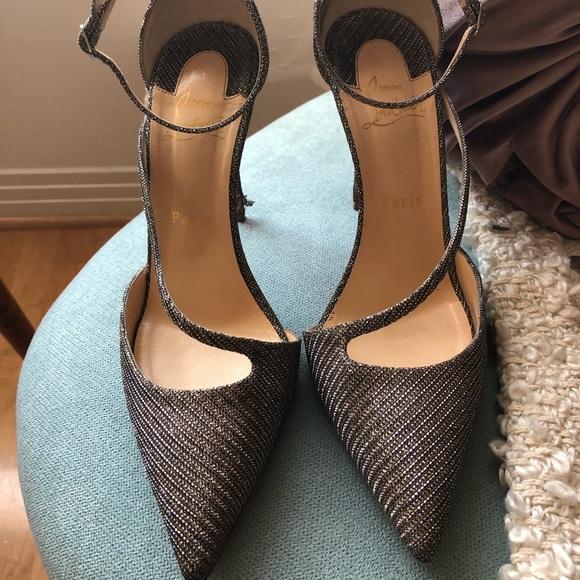 finest selection c6414 16ca5 Christian Louboutin Fliketta silver heel